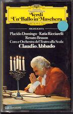 "CLAUDIO ABBADO""VERDI UN BALLO IN MASCHERA""MUSICASSETTA NUOVA DEUTSCHE GRAMMOPHON"