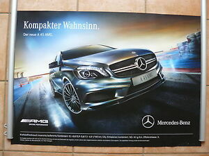 Mercedes-Benz A45 AMG A-Klasse Typ W176 - POSTER 84 x 59 cm Plakat