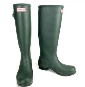 Hunter Women's Original Tall Rain Boots - Dark Olive - US Size 6