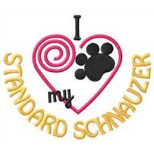 "I ""Heart"" My Standard Schnauzer Short-Sleeved T-Shirt 1448-2 Size S - Xxl"