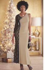 plus sz 18W Alexandra Dress Gown Black Beige Lace formal by Ashro new