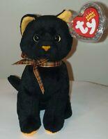 ST* Ty Beanie Baby - SNEAKY the Black & Orange Cat (6 Inch) MWMT (STICKER)