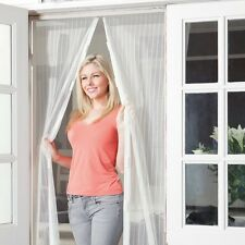 MAGNETIC DOOR MESH - WHITE MAGIC CURTAIN - HANDS FREE FLY BUG INSECT SCREEN