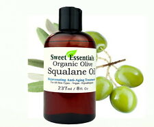 100% Pure Organic Squalane Oil - 8oz w/Pump - Imported From Italy - Anti Aging