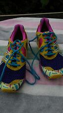 Women's Asics Gel Noosa TRI 7 T264N running shoes sz 8.5 Rainbow  neon multi clr