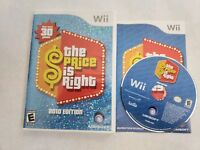 Nintendo Wii The Price Is Right 2010 Edition Complete Rare Game Used Tested