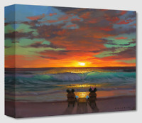 Disney Fine Art Treasures Canvas Collection Sharing A Sunset-Mickey+Minnie