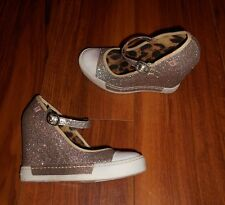 ROCK & CANDY GOLD LUXE LADIES NEW GOLD WEDGE MARY JANE SHOES: UK SIZE 3.5 (36.5)
