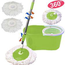 Microfiber Spining Magic Spin Mop W/Bucket 2 Heads Rotating 360°Easy Floor Mop