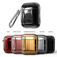 For Apple AirPods 2 Charging Case Plating TPU Holder Protective Airpod Cover