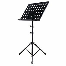 Heavy Duty Orchestral Conductor Sheet Music Stand Holder Tripod Base Foldable UK