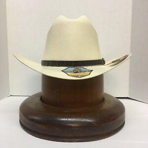 """Stetson® 1000X Evilla De Oro Natural Straw Hat 3 1/2"""" Brim Profile 48"""