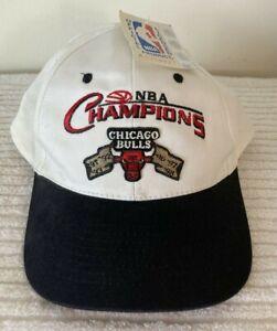 NWT RARE, VINTAGE: KC CAPS 6 TIME NBA CHAMPIONS CHICAGO BULLS BASKETBALL HAT/CAP