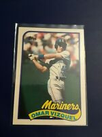 1989 Topps Traded # 122T OMAR VIZQUEL ROOKIE RC Mariners Cleveland Indians