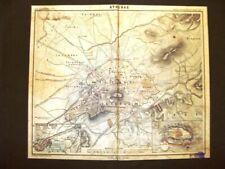 Carta geografica o mappa di fine '800 Atene, Grecia, Olympia Von Kampen