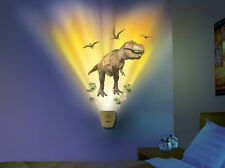 Wild Walls DINOSAUR wall stickers 17 decals with LIGHT & SOUNDS dino egg T-REX