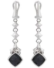 Stephen Webster Superstud grey Crystal Haze dangle earrings in sterling silver