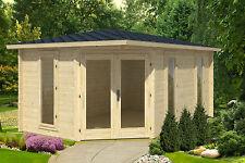 Gartenhaus Edinburgh 2/40 Blockhaus Gerätehaus Holzhaus Schuppen 300x468 cm 40mm