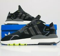 Adidas Nite Jogger Black Iridescent Reflective Running Shoes Boost Men's Size 11
