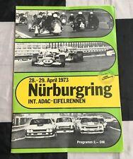 NURBURGRING DRM EIFELRENNEN 1973 PROGRAMME BMW 3.0 CSL ZAKSPEED ESCORT RS1600