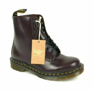 Dr Martens Made In England 1460 Pascal Merlot Boanil Brush leather Boots