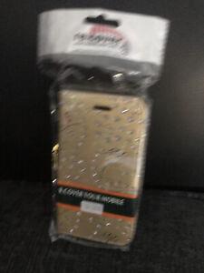 Gold Diamanté Design Mobile Phone Case for LG Leon Brand New