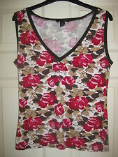 H&M Sleeveless Top -  Red / Brown - Size M - excellent condition
