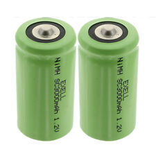Exell 1.2V 3000mAh NiMh SubC Size Rechargeable Button Top Battery