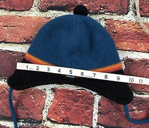 Patagonia Kids Small Warm Wool Fleece Lined Beanie Hat Ear Flap Youth S Knit