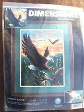 "Dimensions Needlepoint Kit Landing Eagle 12"" x 16"", NIP, #2494"