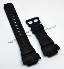Compatible Casio STL-S100H , STL-S110H - 18mm Rubber Black Watch Band - Strap