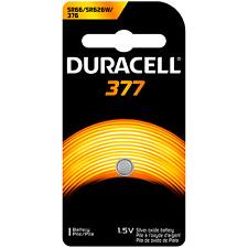 Duracell Silver Oxide 377/376 Watch/Electronic 1.5 Volt Battery 2 pk