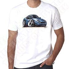 WickedArtz Cartoon Car Blue Fiat Coupe 20v Turbo Mens 100% Cotton White T-Shirt