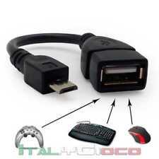 CAVETTO OTG CABLE MICRO USB A USB FEMMINA PER GALAXY S2 i9100 S3 TABLET A10 A13