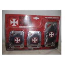 Pedals red cross cover manual cover pedali con croci malta rosse cambio manuale