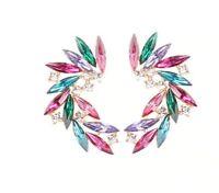 boucles d'oreilles  cristal pierre femmes Piercing boucles d'oreilles MARIAGE