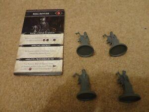 Bloodborne board game (CMON): Enemies Bell Ringer x4  + card. new