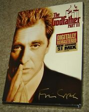 The Godfather Part Iii (Dvd,2008,he Coppola Restoration),New & Sealed,Widescreen