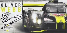 Oliver Webb Hand Signed ByKolles Racing 2018 Le Mans Promo Card.