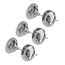 3 Pairs Silver Alloy Snap Button Piercing Earrings Ear Studs DIY Fashion