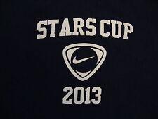 Stars Cup 2013 Nike Apparel Soccer Team Sportswear Blue T Shirt L