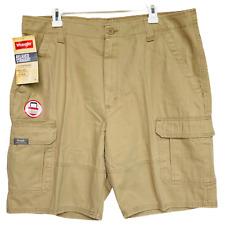 Wrangler Mens Relaxed Straight Khaki Cargo Shorts
