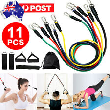 11PCS Latex Yoga Strap Resistance Bands Exercise Home Gym Tube Fitness Elastic