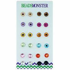 Rhinestone Magnetic Clip on Earrings Stud Gift for Her Girl Women Girlfriend Kid