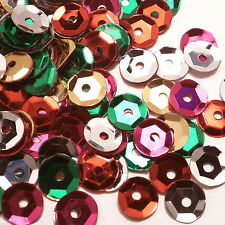 2000 7mm Loose Round Cupped Cup Sequins Mixed Sewing Card Making