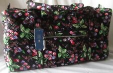 Iconic Vera Bradley LARGE DUFFEL BAG WINTER BERRY New Travel Bag Duffle