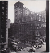 CARNEGIE HALL Street Buses Signs NYC * CLASSIC Iconic VINTAGE 1941 Press Photo