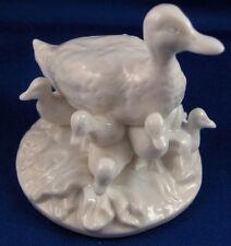 Nymphenburg Porcelain Duck w/ Ducklings Figure Figurine Porzellan Enten Figur