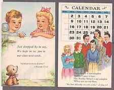 Group of 6 Sunday school NOS unused postcards 1940's