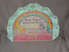 VINTAGE MY LITTLE PONY BABY BONNET SCHOOL OF DANCE PLAYSET  1986